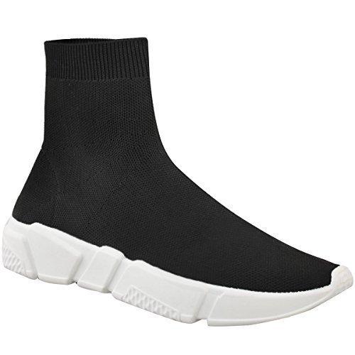 Chaussures de sport/running à enfiler - empeigne en tricot - femme - tricot noir - EUR 38