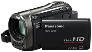 Panasonic HDC-SD60 Caméscope  à carte mémoire SD Port SD Full HD Zoom 35 x Noir