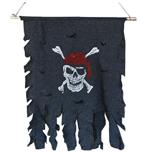 Cloth Schädel-Knochen-Piraten-Flagge Piraten-Flagge Hanging Verzierung Piraten-Thema-Party Supplies Bar Halloween Zubehör