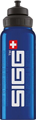 Sigg WMB Siggnature Blue, Sport Trinkflasche, 1 L, Aluminium, BPA Frei, Blau