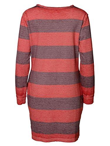 DAILY'S KATE Damen Sweatshirtkleid mit Rundhalsausschnitt und Streifen aus Baumwolle und Polyester - soziale fair trade Kleidung, Mode vegan und nachhaltig Color kir-royale, Size S - 2