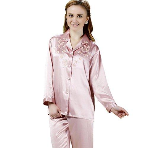 Forever Angel femmes 100%  Pure Silk Pyjama Kimono cadeau de luxe Rose - Rose