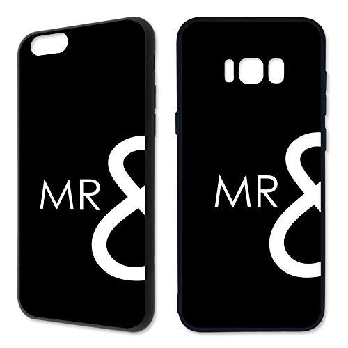 Premium Handyhülle 'MR & Mrs' Samsung - Silikon   Weiss, Gold, Pink   Hochzeit   Liebe   Paar, Handy:Samsung Galaxy J7 (2017), Hüllendesign:Design 1   Silikon Schwarz