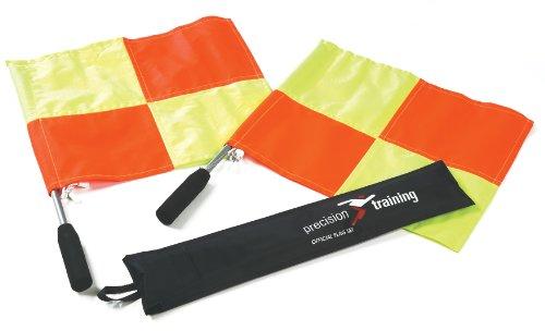Precision Offizielle Linienrichterfahnen im Set, Orange / Gelb (Offizielle Gürtel)