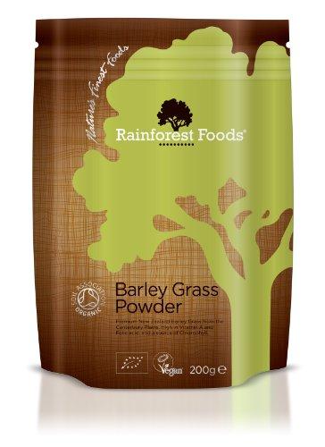 Preisvergleich Produktbild Rainforest Foods Organisches Neuseeland Gerstengras-Pulver,  1er Pack (1 x 200 g) - Bio