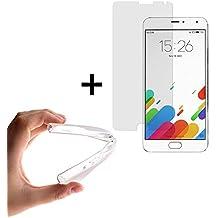WoowCase   Funda Gel Flexible para [ Meizu Metal ] [ +1 Protector Cristal Vidrio Templado ] Ultra Resistente contra Arañazos y Golpes Dureza 9H, Carcasa Case Silicona TPU Suave