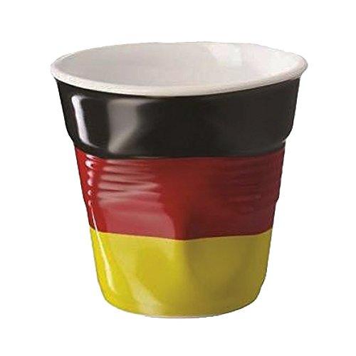REVOL RV644330 Tasse Espresso Froissé, Porcelaine, Multicolore, 6,5 x 6,5 x 6 cm