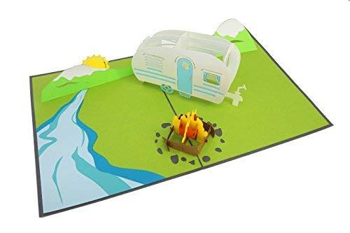 PopLife Cards Camping-Ausflug Pop-up-Karte - alle Gelegenheiten