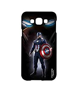 Licensed Marvel Comics Captain America, Ironman Premium Printed Back cover Case for Samsung A8