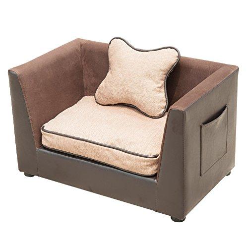 Outsunny PawHut Divano sofa lettino letto di lusso per...