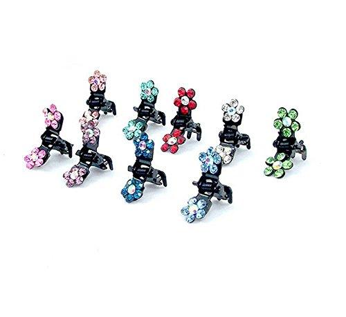 Mini Pinces à Cheveux Cristal D'imitation Strass Cheveux Accessoires pour Enfant Bébé Fille 10 Pièce