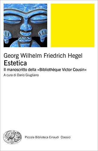 Estetica. Il manoscritto della Bibliothque Victor Cousin