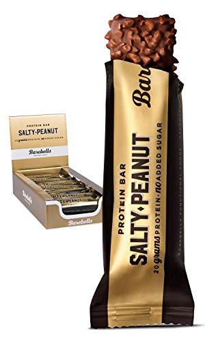 gel 55g x 12 Salty Peanut | Proteinreich Kohlenhydratarm | Kaum Zucker | 20 Gramm Protein pro 55-Gramm-Riegel | Köstliche Proteinriegel für Muskelaufbau und -regeneration ()