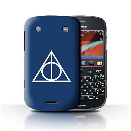 Stuff4® Hülle/Case für Blackberry Bold 9900/Blau Muster/Heiligtümer Todes Inspiriert Kollektion -
