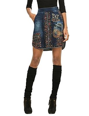 Desigual - Falda Trapecio