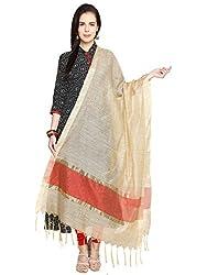 Dupatta Bazaar Womens Dupatta (DB1210_Beige_Free Size)