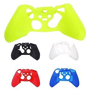 Demiawaking Silikon Gel Gummi Schützende Hülle Griff Kasten Abdeckung für Xbox ONE S Controller Steuerpult (Weiss)