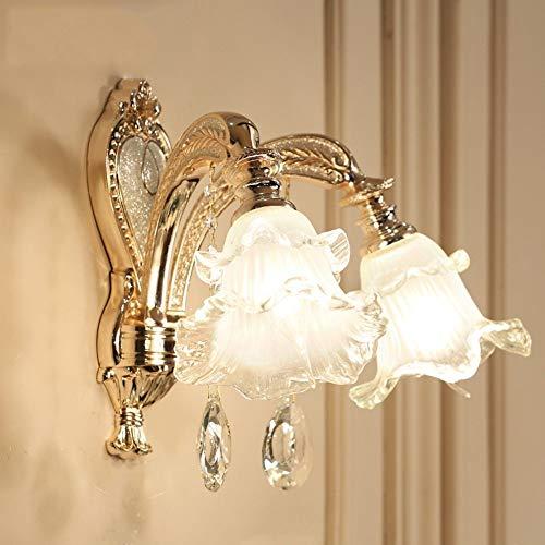Wirtschaft-lampe (GCCI Mode die Wirtschaft der Energie Lampe verstellbare Wand - Europäischen Einfache Moderne Zink-Legierung Kristallglas aus dem Schatten des Korridors der Nachttisch Schlafzimmer Wandlampe d)