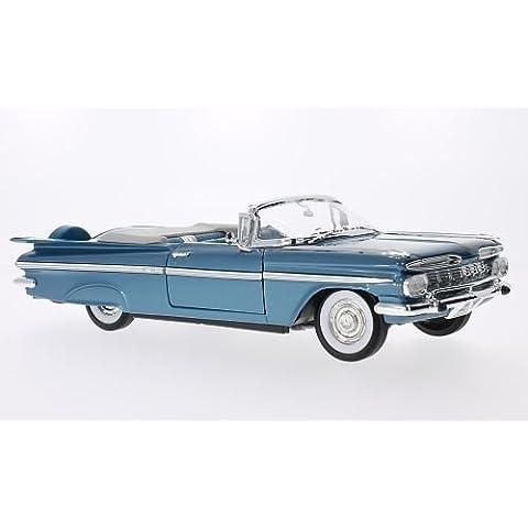 Chevrolet Impala, metálico-azul, 1959, Modelo de Auto, modello completo, Lucky El Cast 1:18