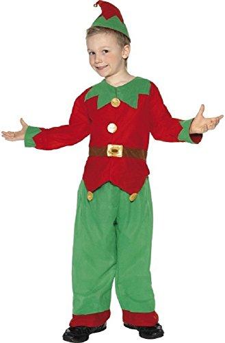 4 Stück Mädchen Jungen Santa's Helfer Helpful Elfen Weihnachtskostüm Outfit 3-12 Jahre - rot/grün, 6-8 Years
