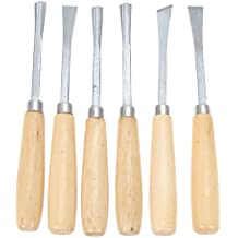 6PCS Wood Chisel Set Woodcarving Knife Woodworking Chisel Wood Carving Tool