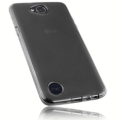 mumbi Schutzhülle für LG X Power 2 Hülle transparent schwarz