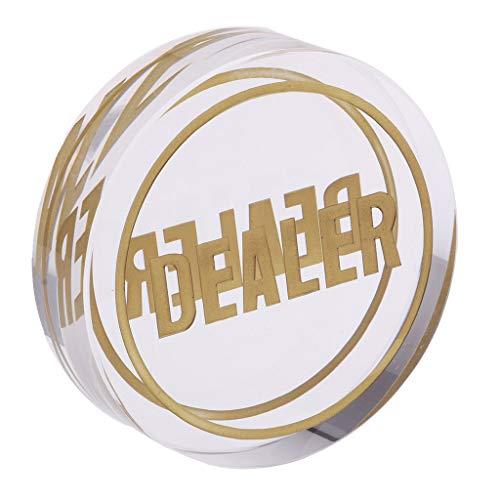 KESOTO 1x Pokerbottons Token Kleine große Händler Poker Chips Karten Geschenk Für Poker Liebhaber