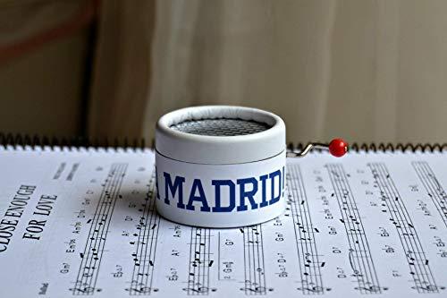 Madrid Music Box (Manuelle Spieluhr HALA MADRID! Das perfekte Geschenk für die Real Madrid Fans. Man hört ihre Hymne. Music Box)