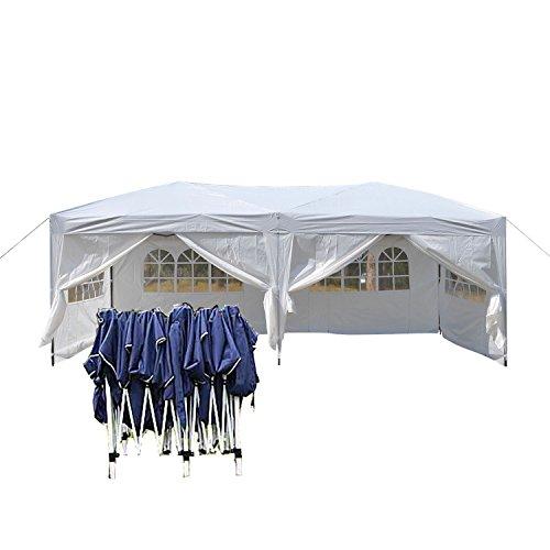 Faltpavillon 3x6 weiß 270g/ m² polyester mit PVC-Beschichtung