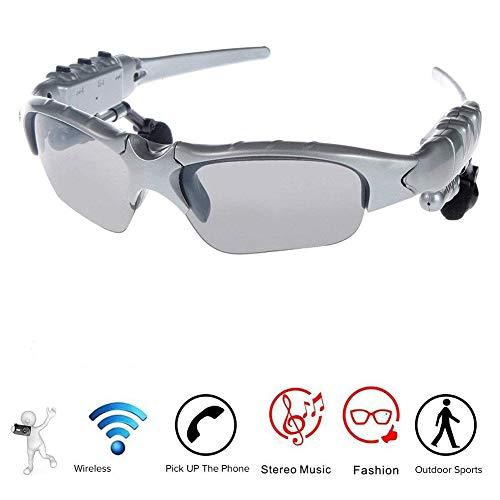 GLASSES Bluetooth-Sonnenbrillen-Headset, drahtloser Kopfhörer mit Ersatz-polarisierten Gläsern Mikrofon über Ohr-Kopfhörer