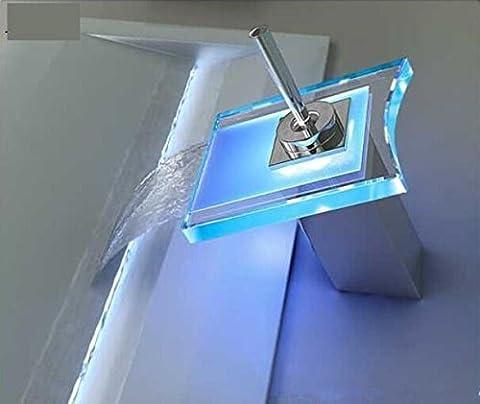 JinRou Modernen/zeitgenössischen Luxus Waschbecken auf Platz Glas Wasserfall Armatur Waschbecken/Toilette Hahn/lead-free-Gesundheit mixer