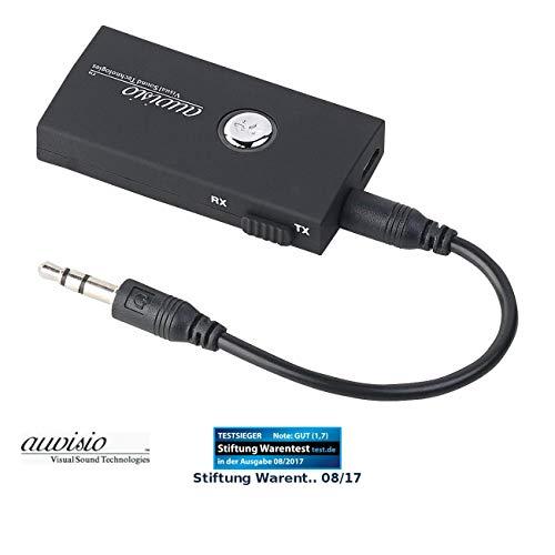 auvisio Transmitter Receiver: 2in1-Audio-Sender und -Empfänger mit Bluetooth 3.0, 10 m Reichweite (Transmitter Receiver, Bluetooth)