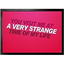 El Club De La Lucha - You Visit Me At A Very Strange Time Of My Life Felpudo Alfombrilla (70 x 50cm)