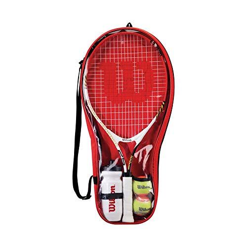 Wilson Roger Federer 25 Tennis-Set, 1 Tennisschläger mit 2 Bällen, 1 Wasserflasche und 1 Tasche