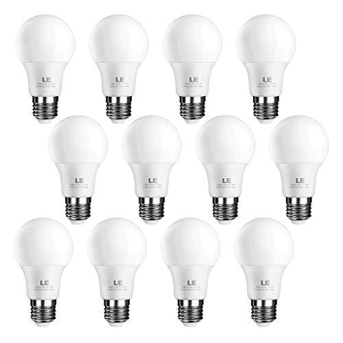9w Led Spot Lampe (LE E27 LED Birne, 9W 800 Lumen LED Lampe, Dimmbar, 3 Dimmstufen, 2700 Kelvin Warmweiß, ersetzt 60W Glühbirne, 12er Pack)