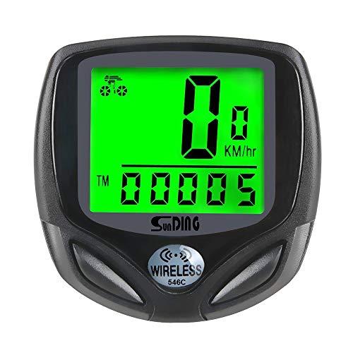 CULASIGN Fahrradcomputer Kabellos Drahtloser Wasserdichter Radcomputer Tachometer LCD-Hintergrundbeleuchtung Display 16 Funktionen Stoppuhr Geschwindigkeit Fahrradtacho