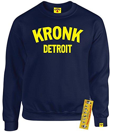 Kronk Boxen-T-Shirt für Herren, Detroit, Herren-Sweatshirt, Klitschko, Hearns Gr. X-Large, navy