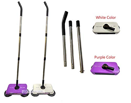 Sevia Plastic Manual Auto Spin Hand Push Sweeping Dust Sweeper/Broom/Mop