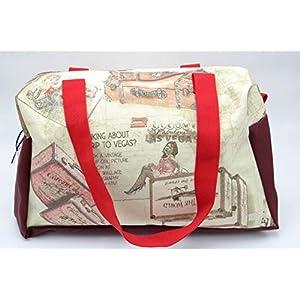 Weekender Bag Vintage Look, Kleine Reisetasche, Handgepäck Flugzeug, Reisetasche Canvas, Carry On Bag Women, Handgepäck