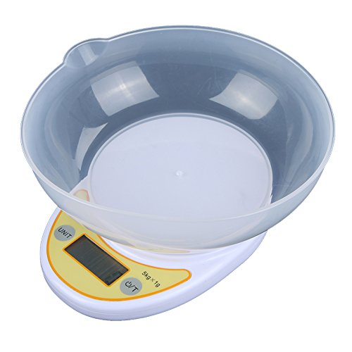 Características: conveniente para el pesaje de alimentos de cocina y otras aplicaciones. equipado con sensor de galgas de alta precisión. fácil leer el número que aparece en la pantalla LCD. allí son tres unidades diferentes para su elección: g, oz, ...