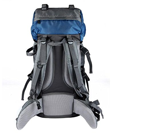 Professionelle Große Outdoor Bergsteigen Tasche Große Kapazität 60L Travel Wasserdichte Rucksack,Blue Blue