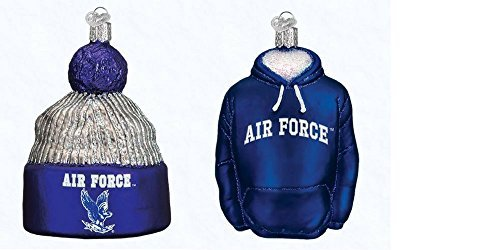 Old World Weihnachten Air Force Hoodie und Air Force Beanie Set von Glas geblasen Ornaments von (Geblasenes Glas-ornamente)