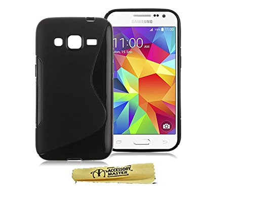 Accessory Master Coque en gel/silicone pour Samsung Galaxy core prime G360/360 Noir