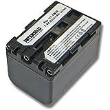 INTENSILO Li-Ion batería 3200mAh (7.4V) para videocámara Sony DCR-PC101, DCR-PC103, DCR-PC105, DCR-PC110 por NP-FM70, NP-FM90, NP-QM51D