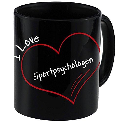 Tasse Modern I Love Sportpsychologen schwarz