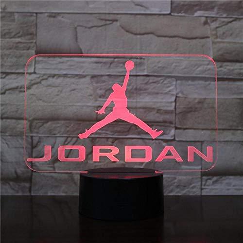Jordan retro 4 schuhe basketball lampe nacht dekor 3d illusion touch sensor jungen kinder geschenk led nachtlicht air jordan 4 turnschuhe usb wiederaufladbare basketball fans präsentieren kinder älter (Air Jordan Haus)