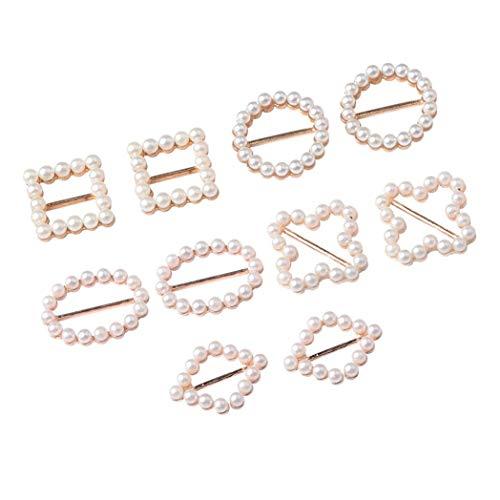 10 Stück Schleifenband Strass Farbe Silber Knöpfe Deko Hochzeit