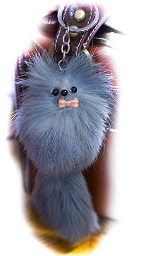 3-fur-2-big-soft-fluffy-grau-20cm-designer-real-quality-pelz-schlusselanhanger-fur-beutel-handy-auto