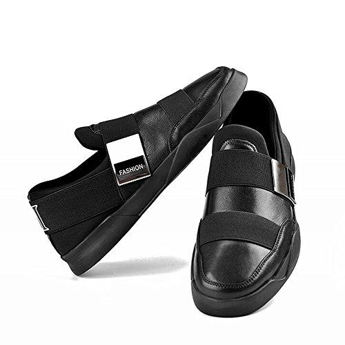 Scarpe Casual Maschile Dress Alpinismo Autunno All'aperto Fondo Morbido Scarpe Sport Slip On Nero Nero