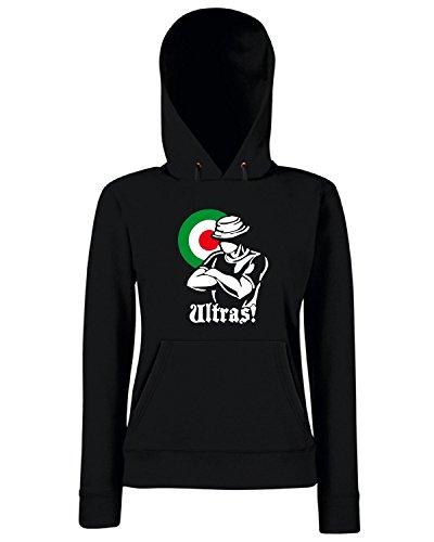T-Shirtshock - Sweats a capuche Femme T0793 ultras italia calcio ultras Noir